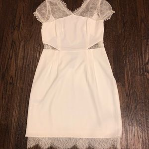 Size 10 BCBG White laced dress